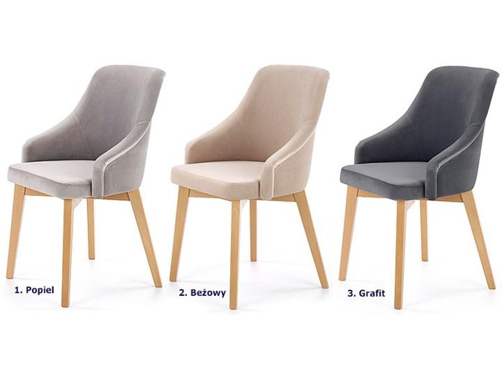 Krzesło drewniane Altex 2X - beż + dąb miodowy Szerokość 57 cm Wysokość 86 cm Drewno Kolor Beżowy