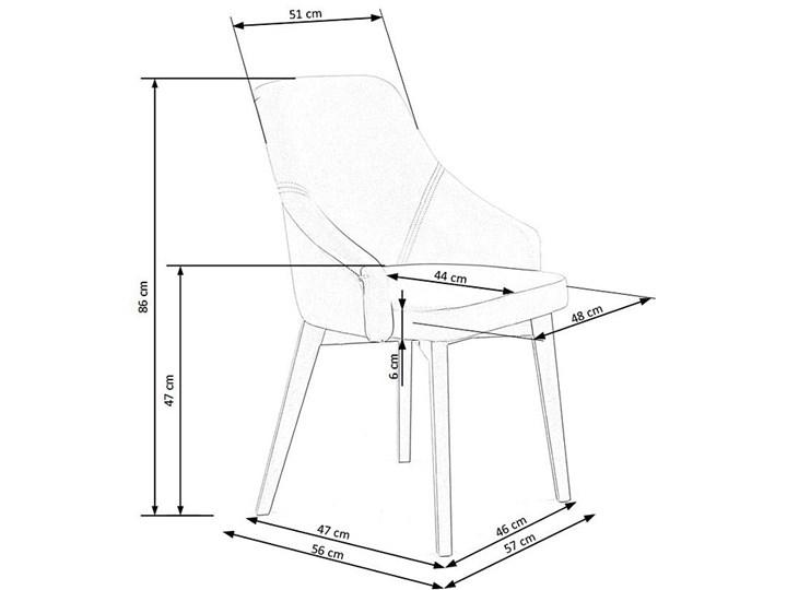 Krzesło drewniane Altex 2X - beż + dąb miodowy Szerokość 57 cm Drewno Wysokość 86 cm Kolor Beżowy