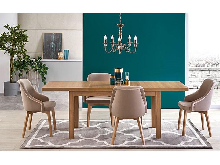 Krzesło drewniane Altex 2X - beż + dąb miodowy Wysokość 86 cm Kolor Beżowy Szerokość 57 cm Drewno Styl Skandynawski