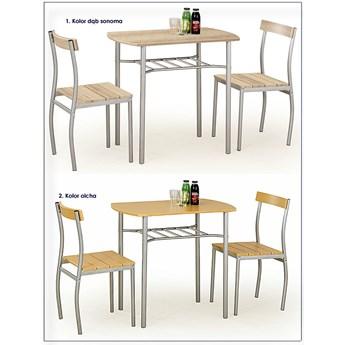 Stół z krzesłami Twiner - dąb sonoma