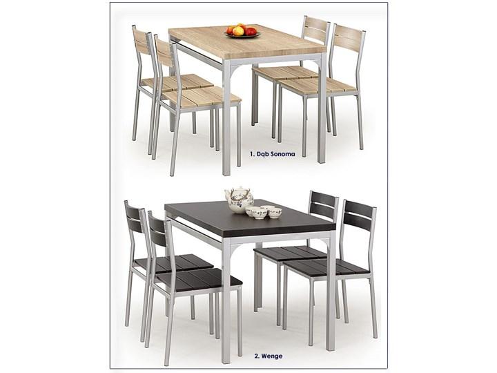 Stół z krzesłami Torino - wenge Liczba krzeseł 4 krzesła