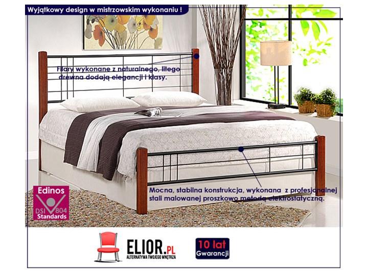 Łóżko drewniane Verona 160x200 Rozmiar materaca 160x200 cm Łóżko metalowe Kolor Brązowy