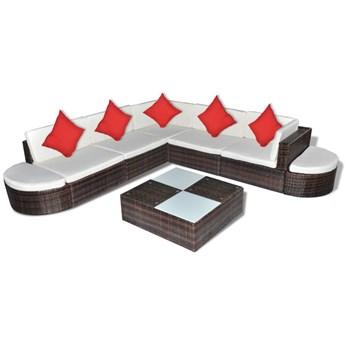 Zestaw wypoczynkowy do ogrodu Fonat 2X - brązowy