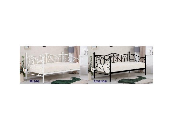Pojedyncze metalowe łóżko jednoosobowe Dolie 90x200 - białe Kolor Biały Łóżko metalowe Rozmiar materaca 90x200 cm