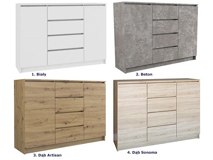 Komoda Intia 2X - biała Wysokość 97 cm Z szafkami i szufladami Szerokość 40 cm Pomieszczenie Salon