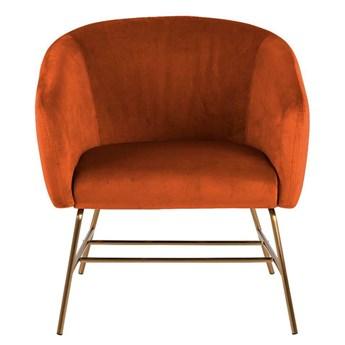 Fotel muszelka Pablos 2X - pomarańczowy