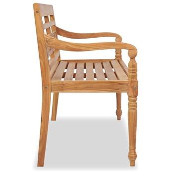 Drewniana ławka ogrodowa Rea - brązowa