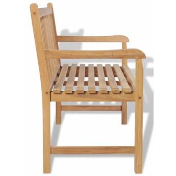 Drewniana ławka ogrodowa Tanas - brązowa