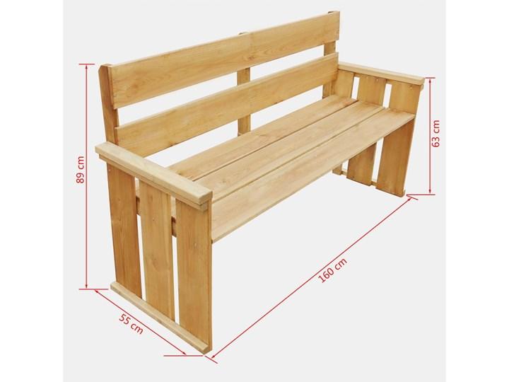 Drewniana ławka ogrodowa Uter - brązowa Drewno Kategoria Ławki ogrodowe