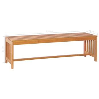 Drewniana ławka ogrodowa Aron - brązowa