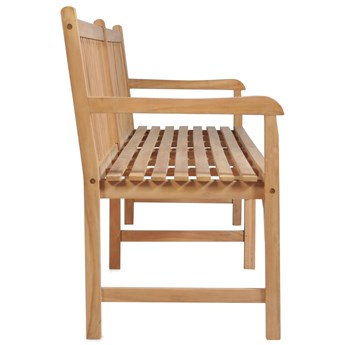 Drewniana ławka do ogrodu Lexter 2X - brązowa