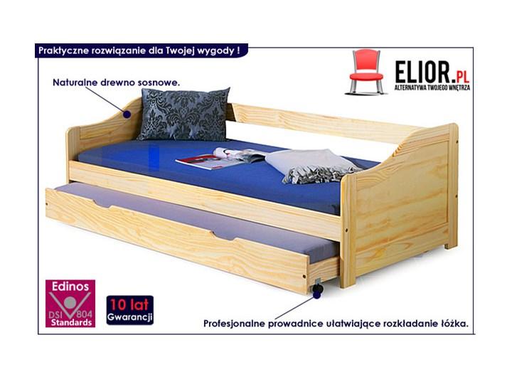 Łóżko podwójne rozsuwane Legis Drewno Kategoria Łóżka dla dzieci Tradycyjne Kolor Beżowy