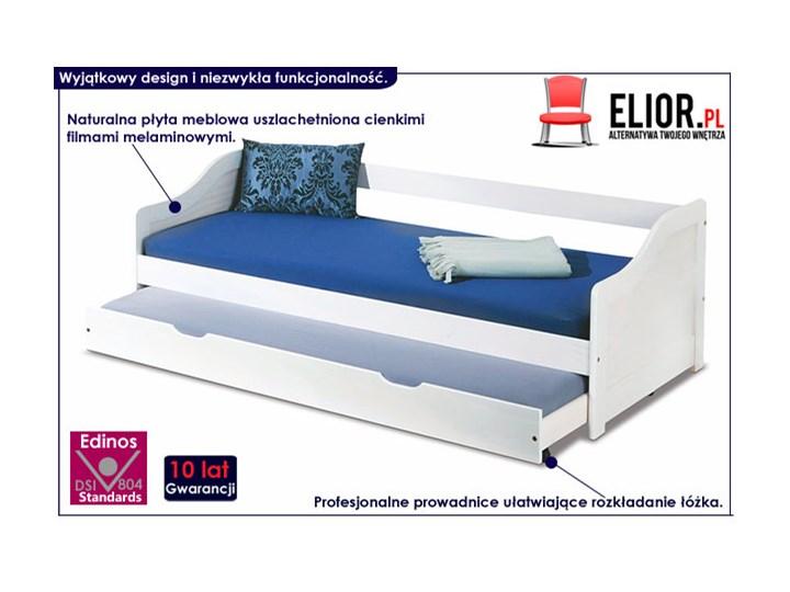 Dwuosobowe łóżko rozsuwane Legis - białe Tradycyjne Płyta MDF Rozmiar materaca 90x200 cm Kolor Biały