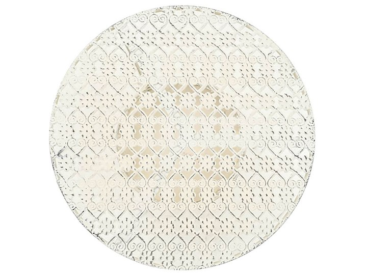 Romantyczny stolik vintage Marin - biały Kategoria Stoliki i ławy Wysokość 77 cm Kształt blatu Okrągłe