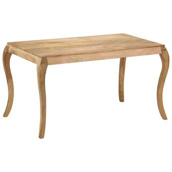 Stół jadalniany z drewna mango Nezis – brązowy