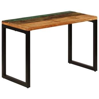 Stół jadalniany z odzyskanego drewna i stali Abis – wielokolorowy