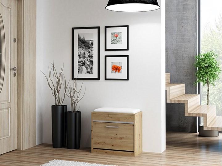 Szafka na buty z siedziskiem i schowkiem Leni 2X - dąb artisan Drewno Kategoria Szafki i regały