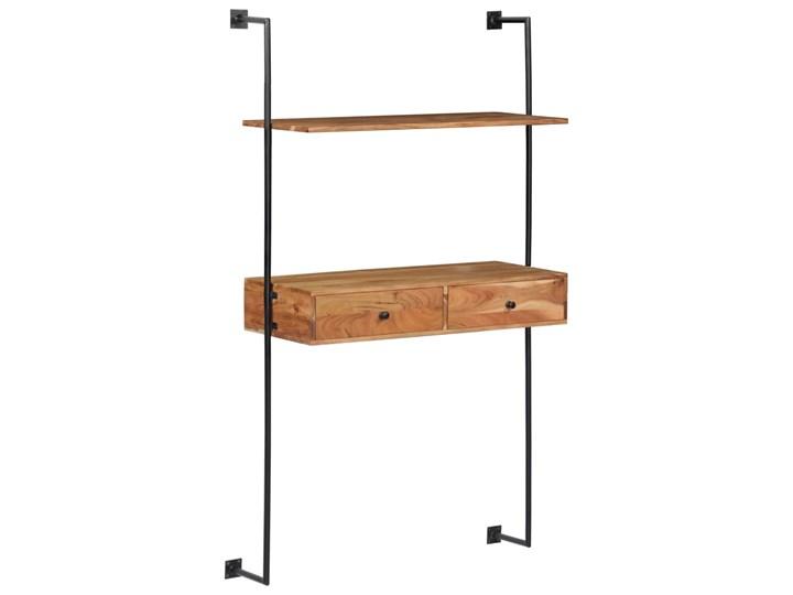 Drewniane biurko ścienne Tant - brązowe Szerokość 90 cm Szerokość 40 cm Drewno Kolor Brązowy