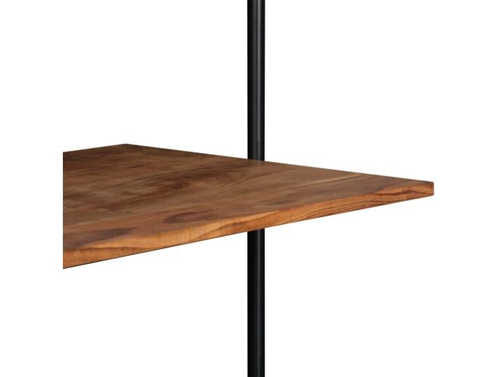 Drewniane biurko ścienne Tant - brązowe Drewno Szerokość 90 cm Szerokość 40 cm Styl Skandynawski