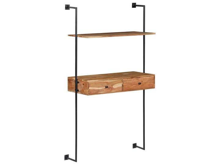 Drewniane biurko ścienne Tant - brązowe Drewno Szerokość 90 cm Szerokość 40 cm Kolor Brązowy Styl Industrialny