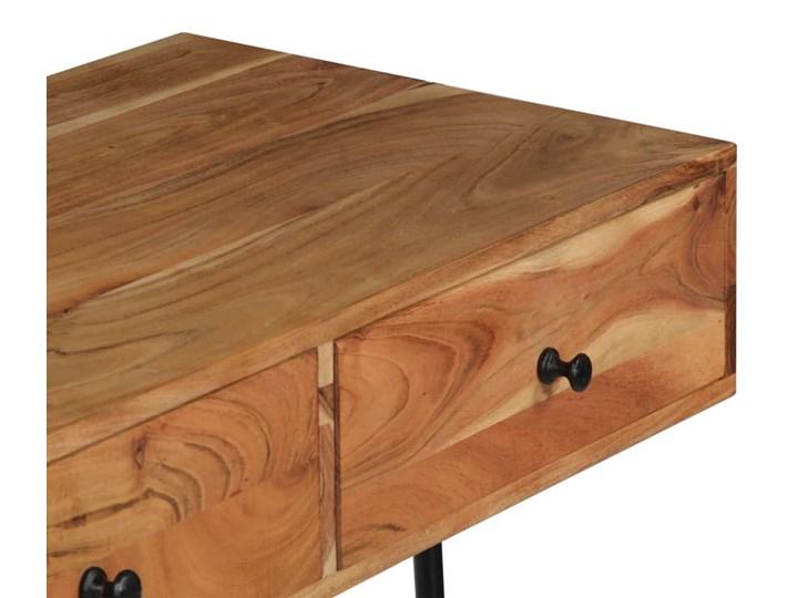 Drewniane biurko ścienne Tant - brązowe Drewno Styl Industrialny Szerokość 40 cm Szerokość 90 cm Styl Nowoczesny