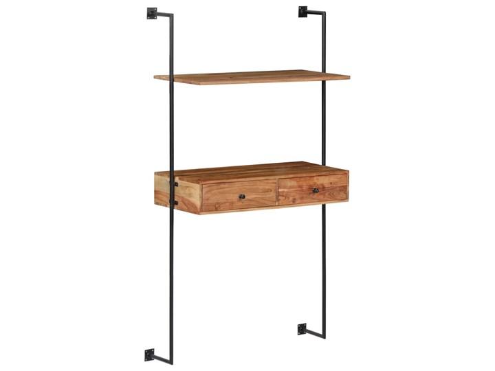 Drewniane biurko ścienne Tant - brązowe