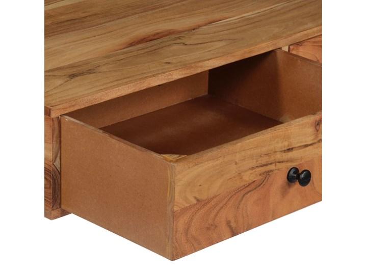 Drewniane biurko ścienne Tant - brązowe Szerokość 40 cm Drewno Szerokość 90 cm Styl Industrialny