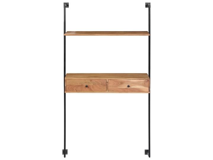 Drewniane biurko ścienne Tant - brązowe Styl Nowoczesny Szerokość 40 cm Szerokość 90 cm Drewno Styl Skandynawski