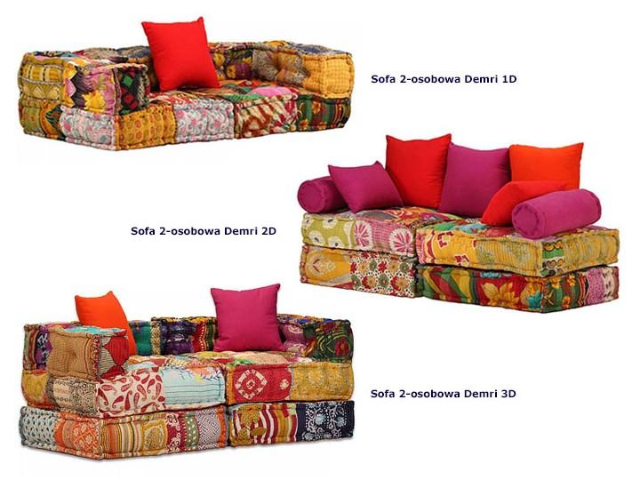 Modułowa sofa patchwork Demri 2D Szerokość 70 cm Modułowe Wielkość Dwuosobowa
