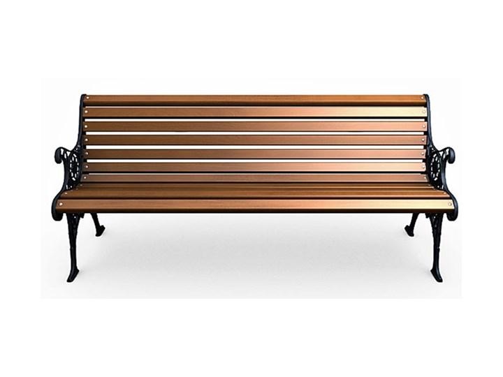 Żeliwna ławka parkowa z ornamentem Z oparciem Drewno Stal Długość 150 cm Kolor Brązowy