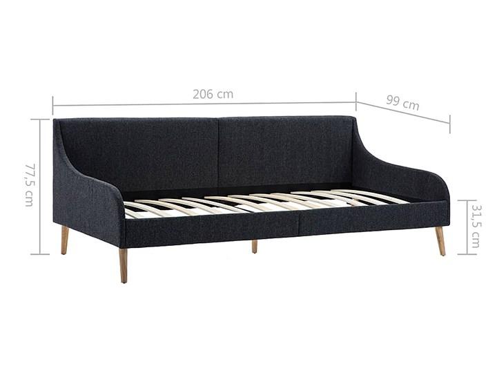 Efektowne tapicerowane łóżko Welles – szare Kolor Czarny Łóżko tapicerowane Pojemnik na pościel Bez pojemnika