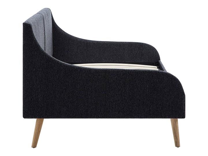 Efektowne tapicerowane łóżko Welles – szare Łóżko tapicerowane Pojemnik na pościel Bez pojemnika