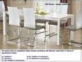 Rozkładany stół Staner 3X Stal Szerokość 80 cm Wysokość 76 cm Płyta laminowana Długość 130 cm  Kształt blatu Prostokątny