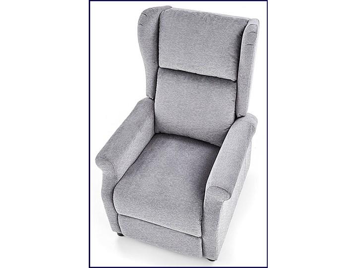 Rozkładany fotel uszak wypoczynkowy Alden - popielaty Fotel rozkładany Kolor Szary