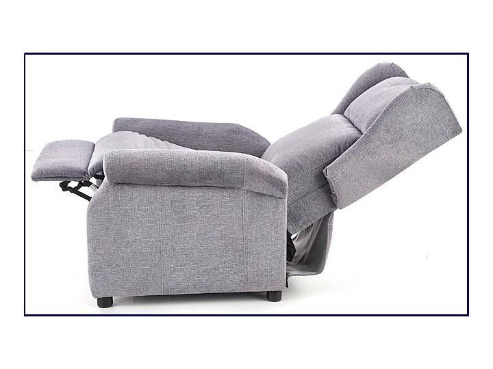 Rozkładany fotel uszak wypoczynkowy Alden - popielaty Fotel rozkładany Styl Nowoczesny Kolor Szary