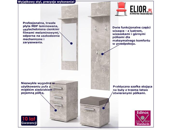 Minimalistyczna garderoba Dimmi - beton Kategoria Zestawy mebli do sypialni