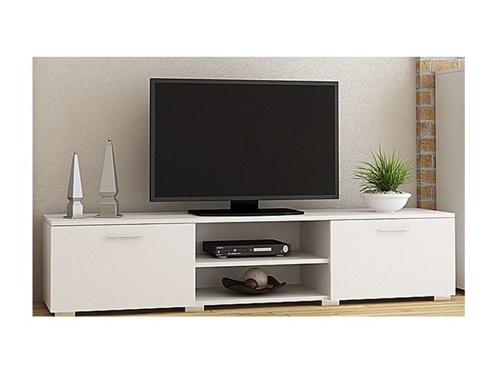 Komplet mebli do salonu - Meblościanka Pixelo 6X - biała Kolor Biały