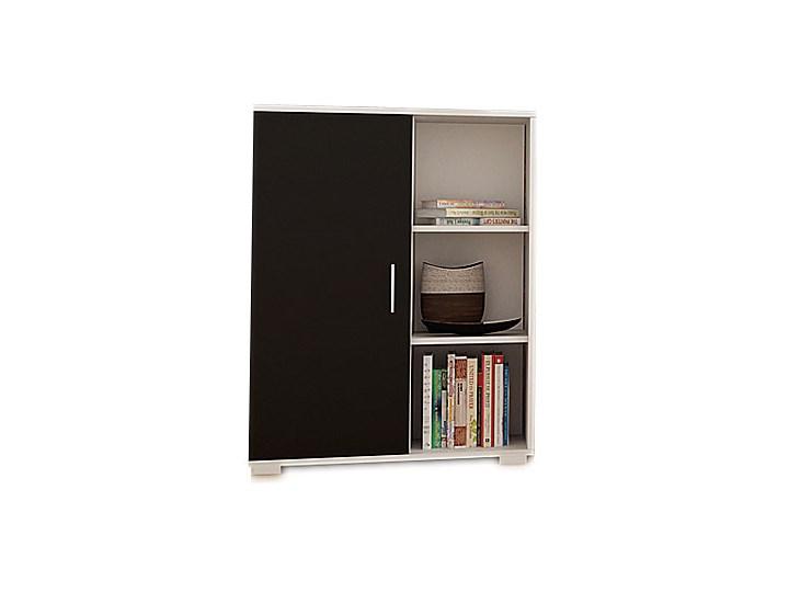 Zestaw do salonu Meblościanka Pixelo 3X biało-czarny Kolor Biały Kategoria Zestawy mebli do sypialni