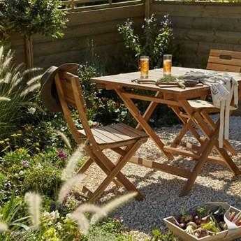 Stół składany GoodHome Denia kwadratowy 90 x 90 x 75 cm