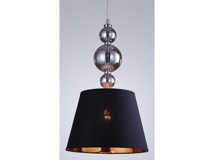 NOWOCZESNA LAMPA WISZĄCA CZARNA MURANEO Lampa z abażurem Szkło Tkanina Chrom Lampa z kloszem Metal Ilość źródeł światła 1 źródło