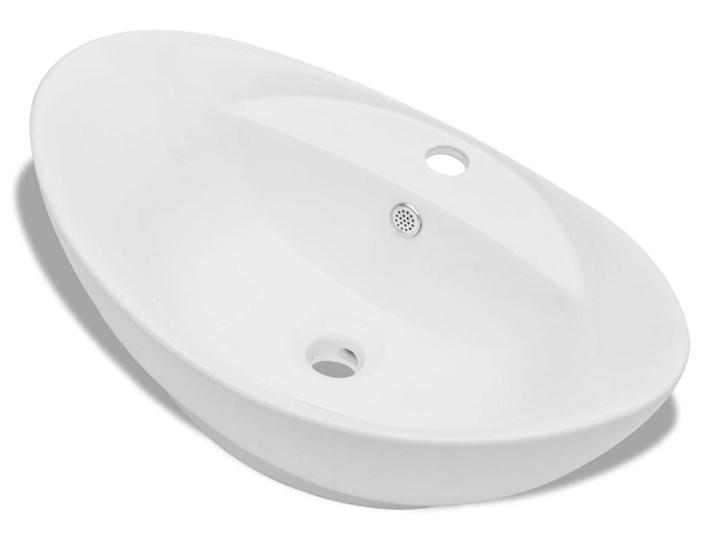 vidaXL Luksusowa umywalka owalna z otworem przelewowym i na baterię