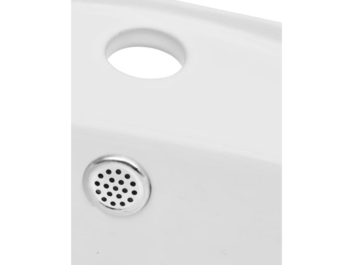 vidaXL Luksusowa umywalka owalna z otworem przelewowym i na baterię Ceramika Owalne Kategoria Umywalki Kolor Biały
