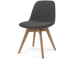 Krzesło Grace Bess antracytowe nogi drewniane