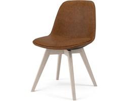 Krzesło Grace Bess brązowe nogi drewniane