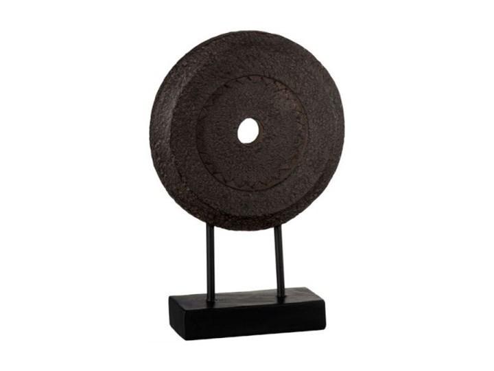 Figurka dekoracyjna Irregular Circle 15x31 cm brązowa