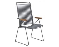 Krzesło ogrodowe Click 60x106 cm ciemnoszare