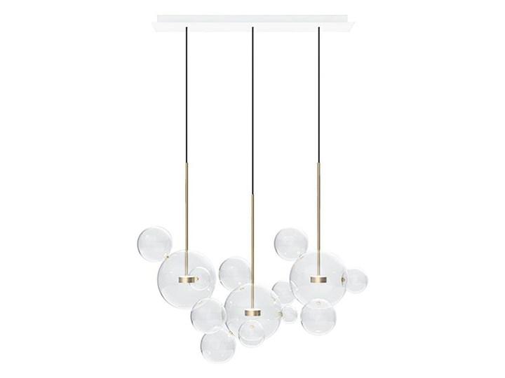 Żyrandol CAPRI LINE 3 - szklane kule Lampa z kloszem Kategoria Lampy wiszące Metal Stal Szkło Lampa LED Kolor Złoty