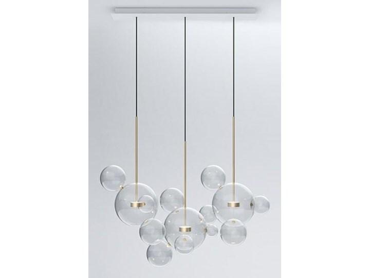 Żyrandol CAPRI LINE 3 - szklane kule Lampa z kloszem Lampa LED Stal Szkło Metal Kolor Złoty