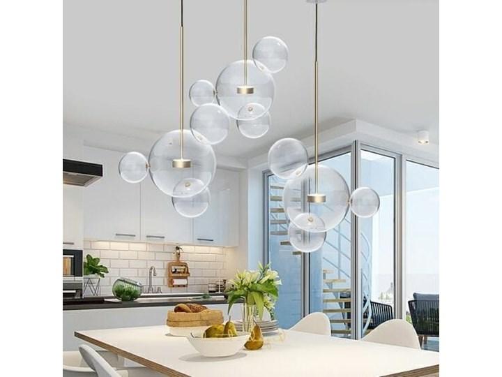 Żyrandol CAPRI LINE 3 - szklane kule Lampa LED Metal Szkło Lampa z kloszem Stal Kategoria Lampy wiszące