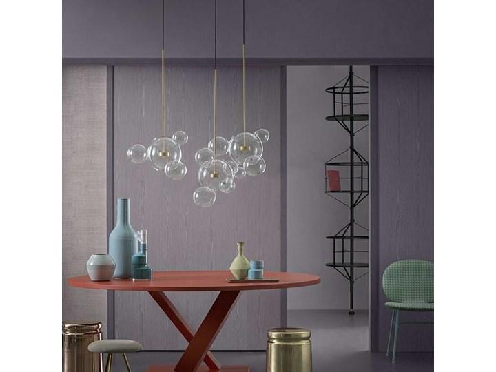 Żyrandol CAPRI LINE 3 - szklane kule Lampa LED Stal Metal Kolor Złoty Szkło Lampa z kloszem Kategoria Lampy wiszące